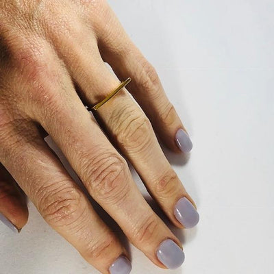 Simple Bar Minimalist Ring