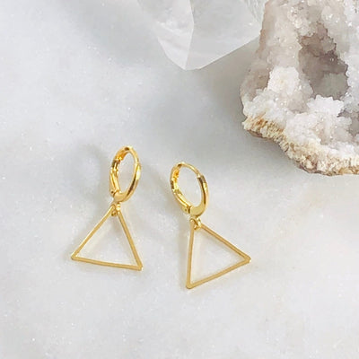 Simple Triangle Earrings for a Modern, Boho Style
