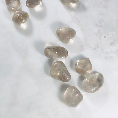 Smokey Quartz Tumbled Stones Polished Crystals for Grounding and Energy