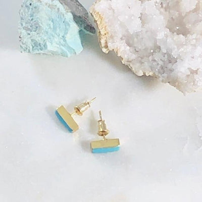 Turquoise Bar Earrings for a Modern, Boho Style