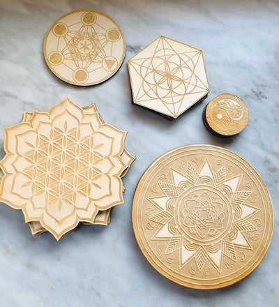Mandala Wood Grid