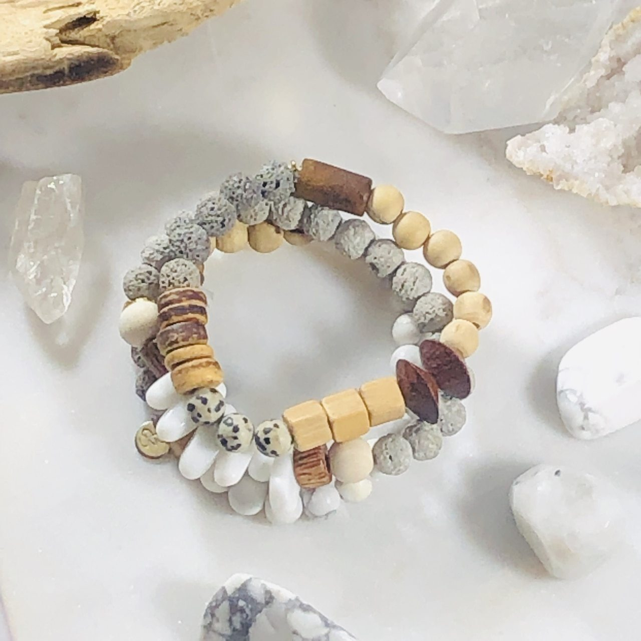 Zen Bracelet Stack (Diffuser) for Meditation and Grounding