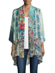 Plus Size Long Sleeve Floral Printed Outerwear