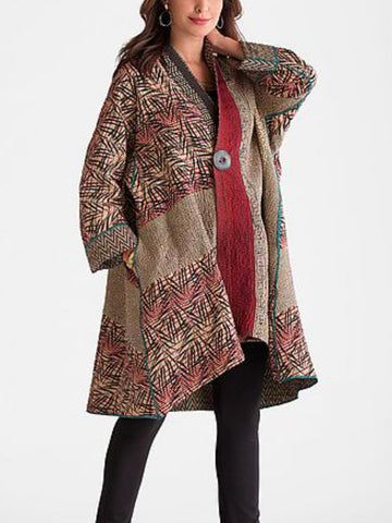 Casual Long Sleeve Plus Size Coats