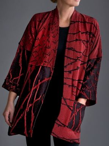Plus size Printed Cotton Outerwear