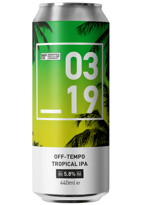 Bad Co Off Tempo Tropical IPA 5.8% - Boxed In