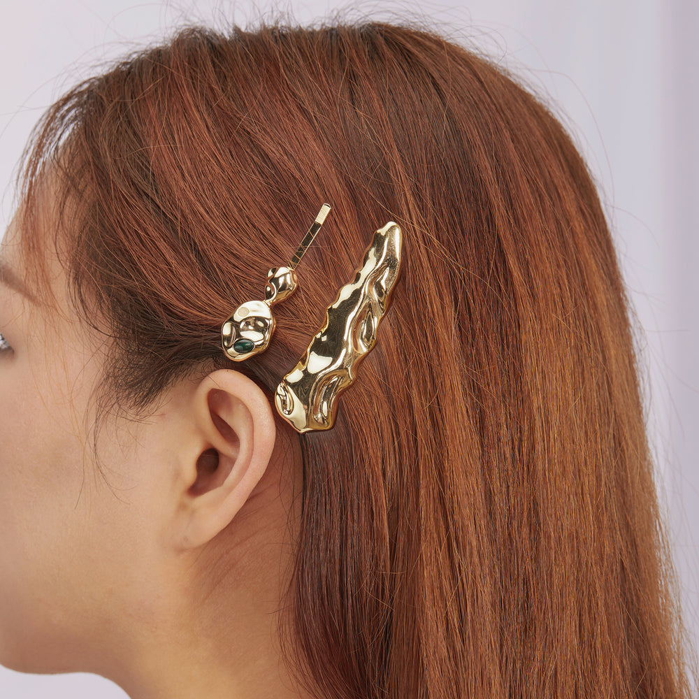 The Beauty of Ambiguity | Malaquite Hair Clip