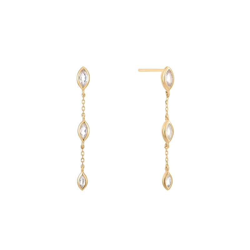 Twinkle | White Topaz Drop Earring