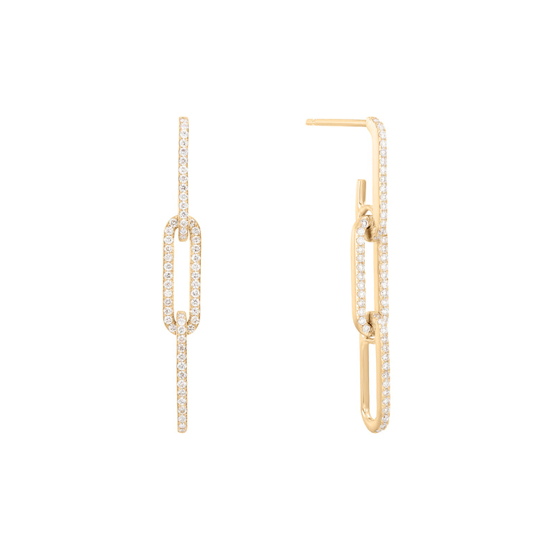 Tension | White Diamond Link Earring