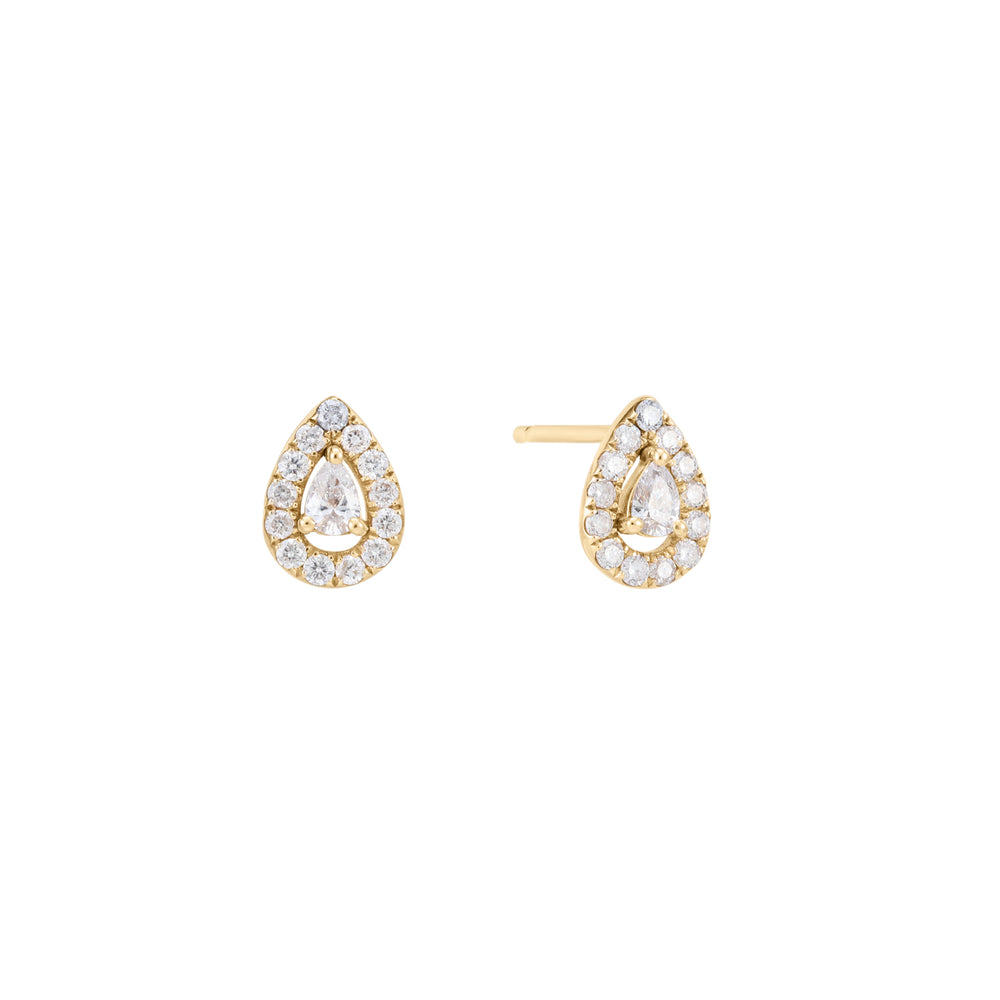 Tension | White Diamond Teardrop Earring