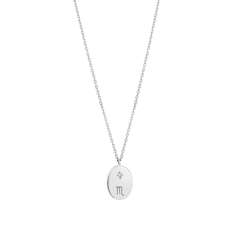 Scorpius Sign Diamond Necklace