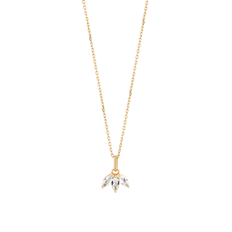 Trio White Marquise Topaz Necklace