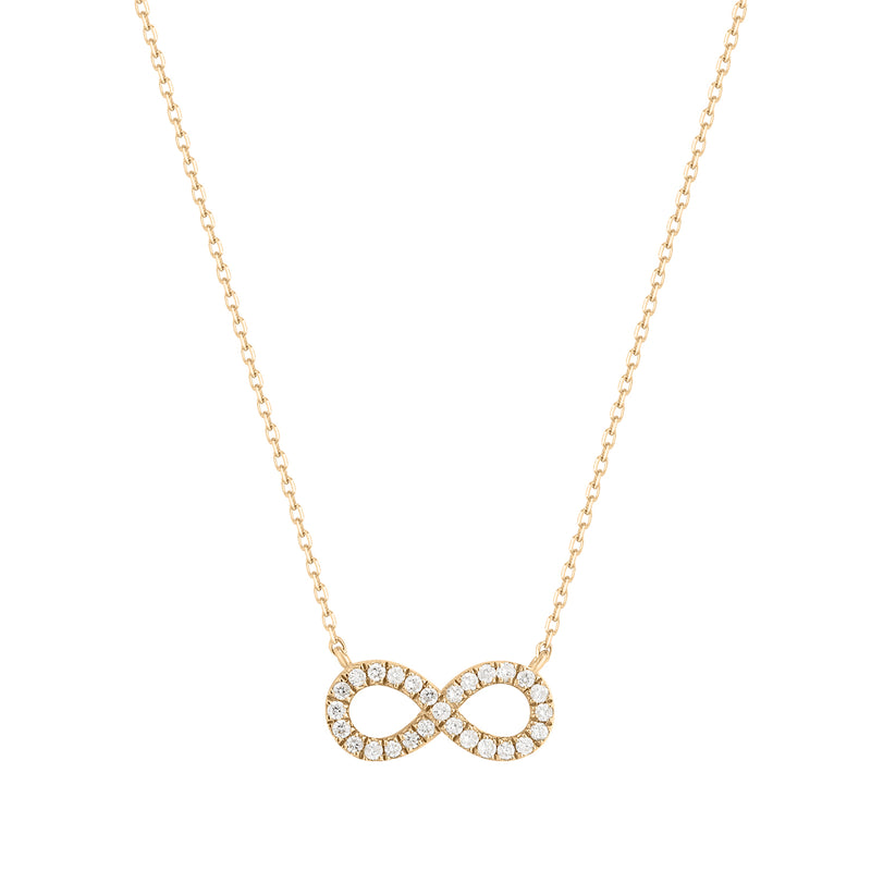 Talisman | White Diamond Infinity Necklace