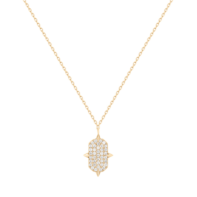Tension | White Diamond Tag Necklace