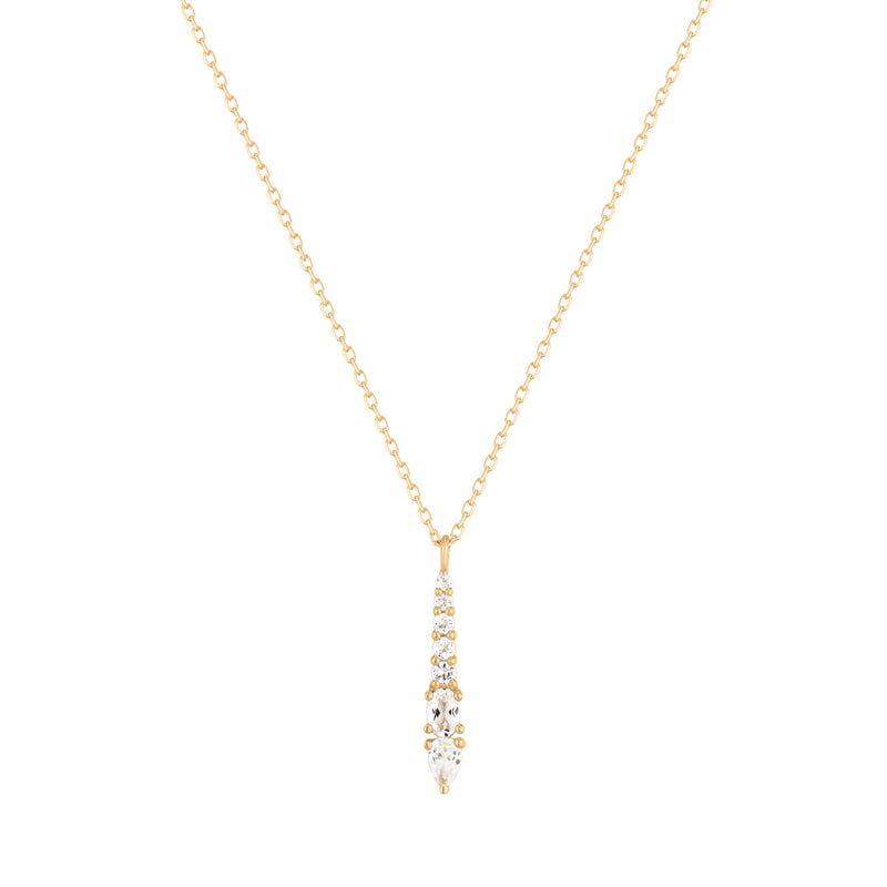 Twinkle | White Topaz Graduated Necklace