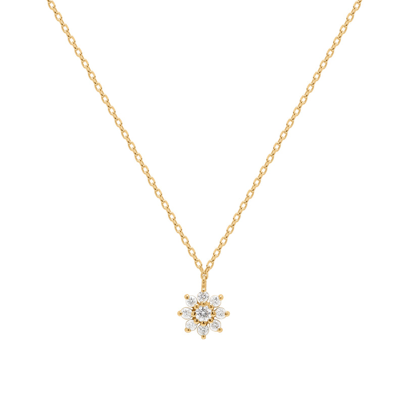Tension | White Diamond Starburst Necklace