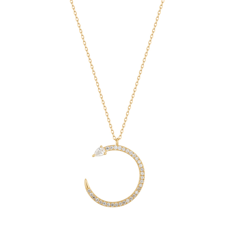 Tension | White Topaz Snake Necklace