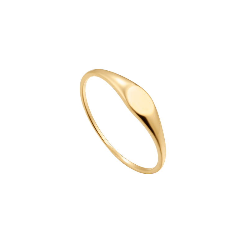Skinny Oval Signet Ring
