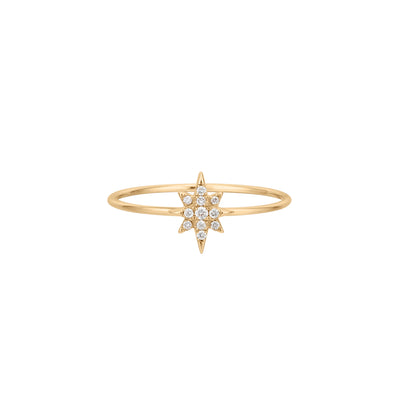 Talisman | White Diamond Starburst Ring