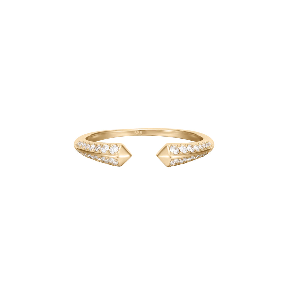 Tension | White Diamond Open Ring