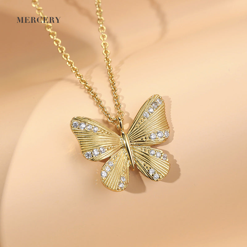 Mother's Day | Butterfly Necklace with CZ