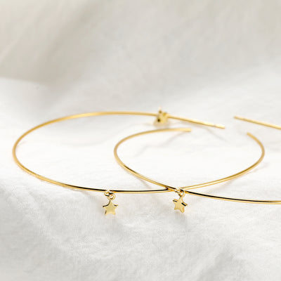 Dangling Tiny Star Hoops