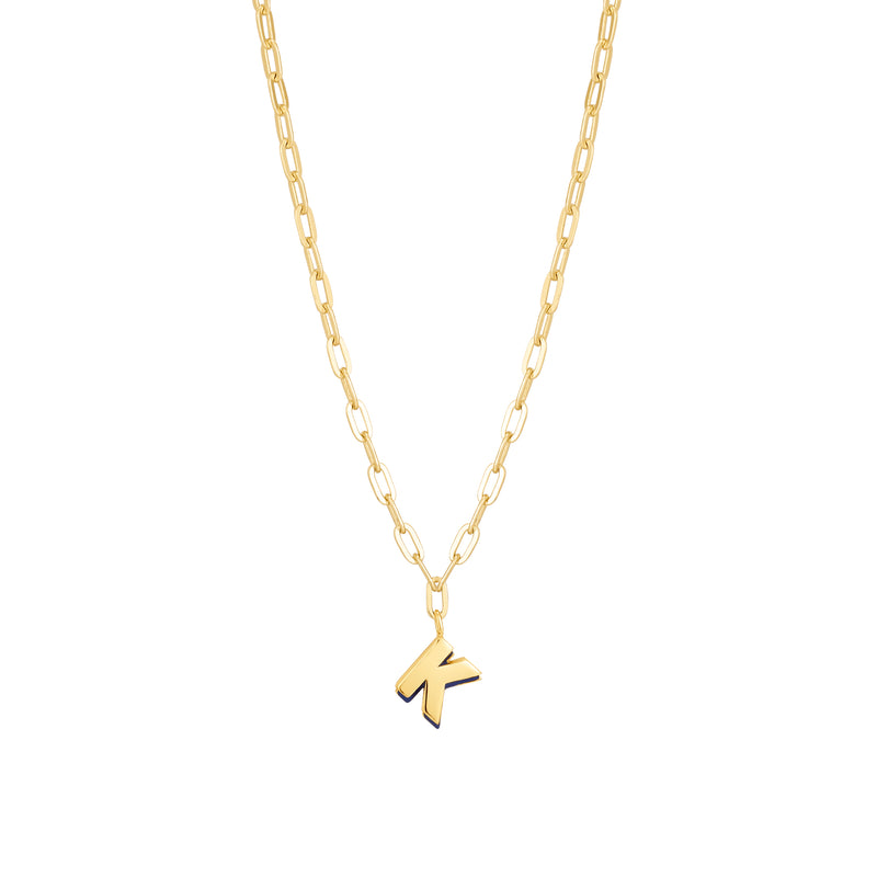 Initial Sign K Necklace