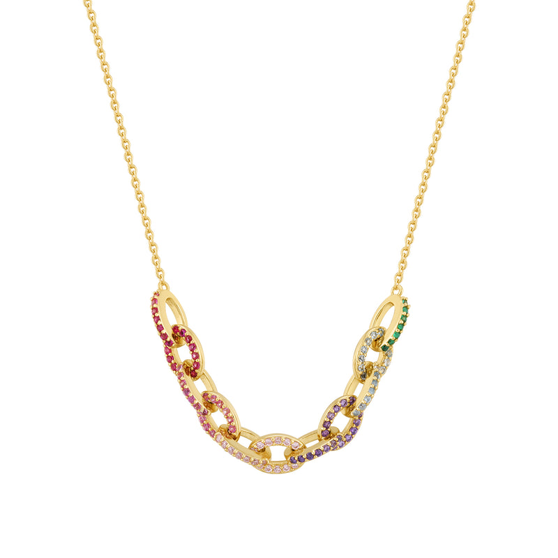The Beauty of Ambiguity | Rainbow CZ Chain Necklace