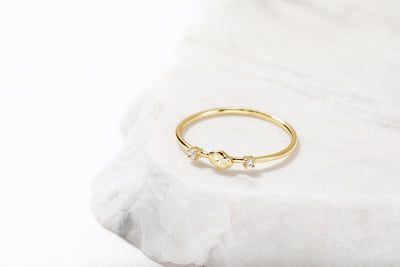 Delicate CZ Ring