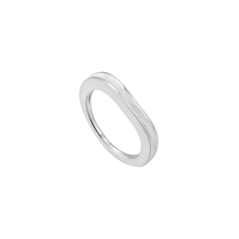 White Enamel Ring