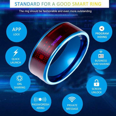 Fashion Men's Smart Ring Magic Wear NFC Ring Finger Digital Ring for Android phones with functional couple stainless steel ring
