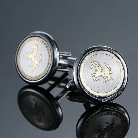 Brand new Fashion design men's French shirt Cufflinks button gold silver anchor rudder pistol bullet aircraft modeling Cufflinks
