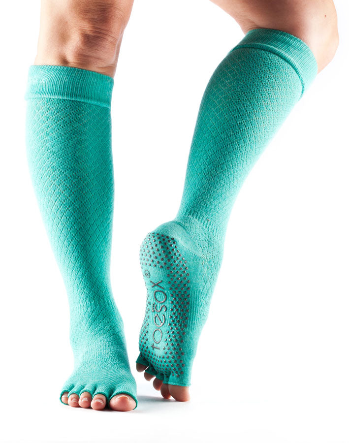 Half Toe Knee high Fishnet Lagoon