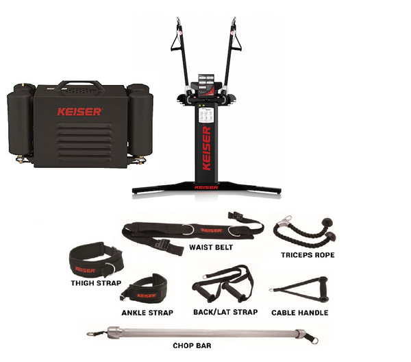 Bundle: Functional trainer + mini compressor + free stand + accessory kit