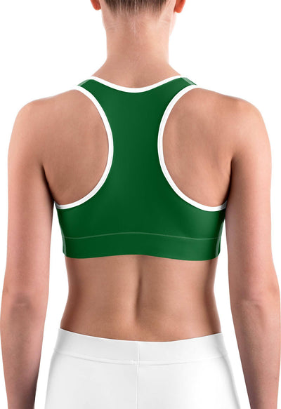 Solid Irish Green Sports bra