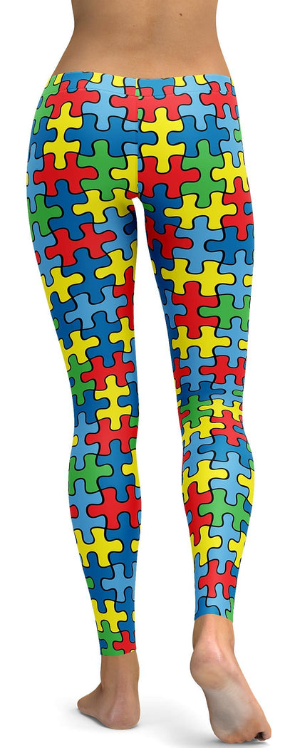 Autism Awareness Ribbon Leggings