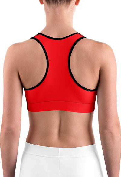 Solid Hot Red Sports bra