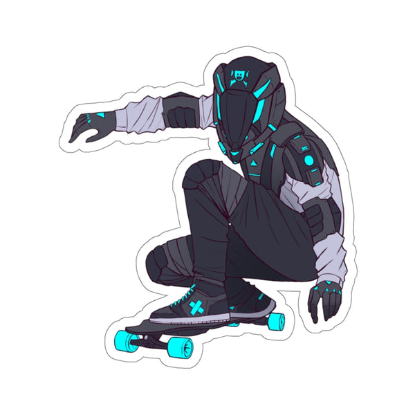 Downhill E-Skating Sticker
