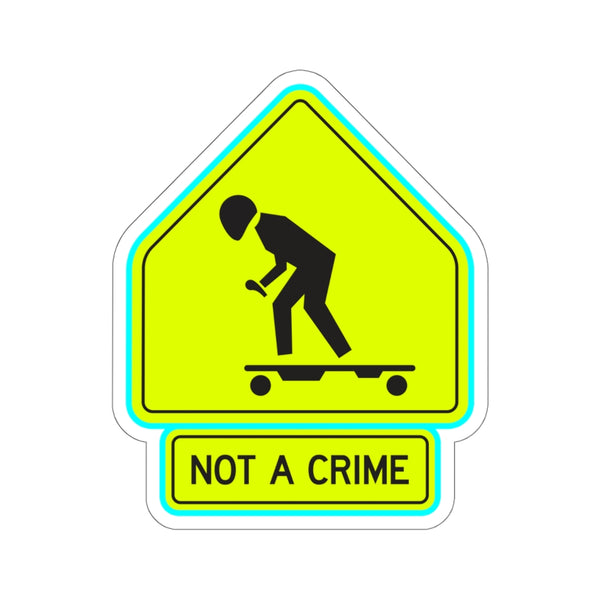 E-Skating is Not A Crime Sticker