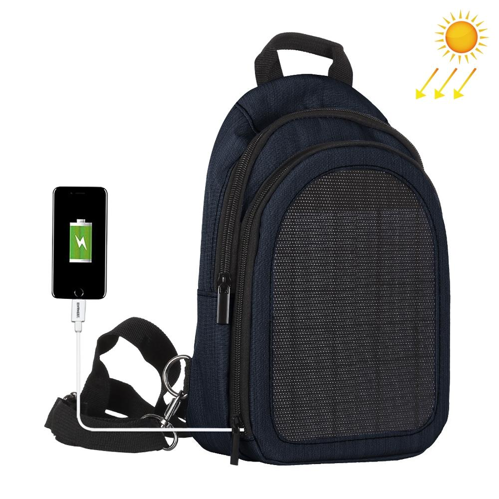 Haweel 5W Solar Panel Men Backpack Powered Backpack Usb Charging Anti-Theft Laptop Travel Backpacks for Men Canvas Backpack - Premiersolartech