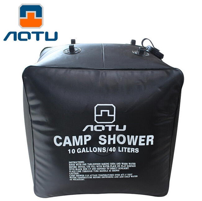 AOTU New High Quality Outdoor Camping Solar Shower Bags climbing hiking backpack bagpack 40L Portable Water Bag Outdoor Bath 279 - Premiersolartech