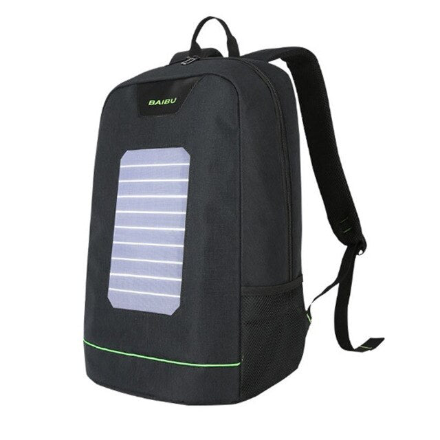 BAIBU Men Backpack 10W Solar Powered Backpack Usb Charging Anti-Theft Laptop Backpack for women Laptop Bagpack Waterproof Bags - Premiersolartech