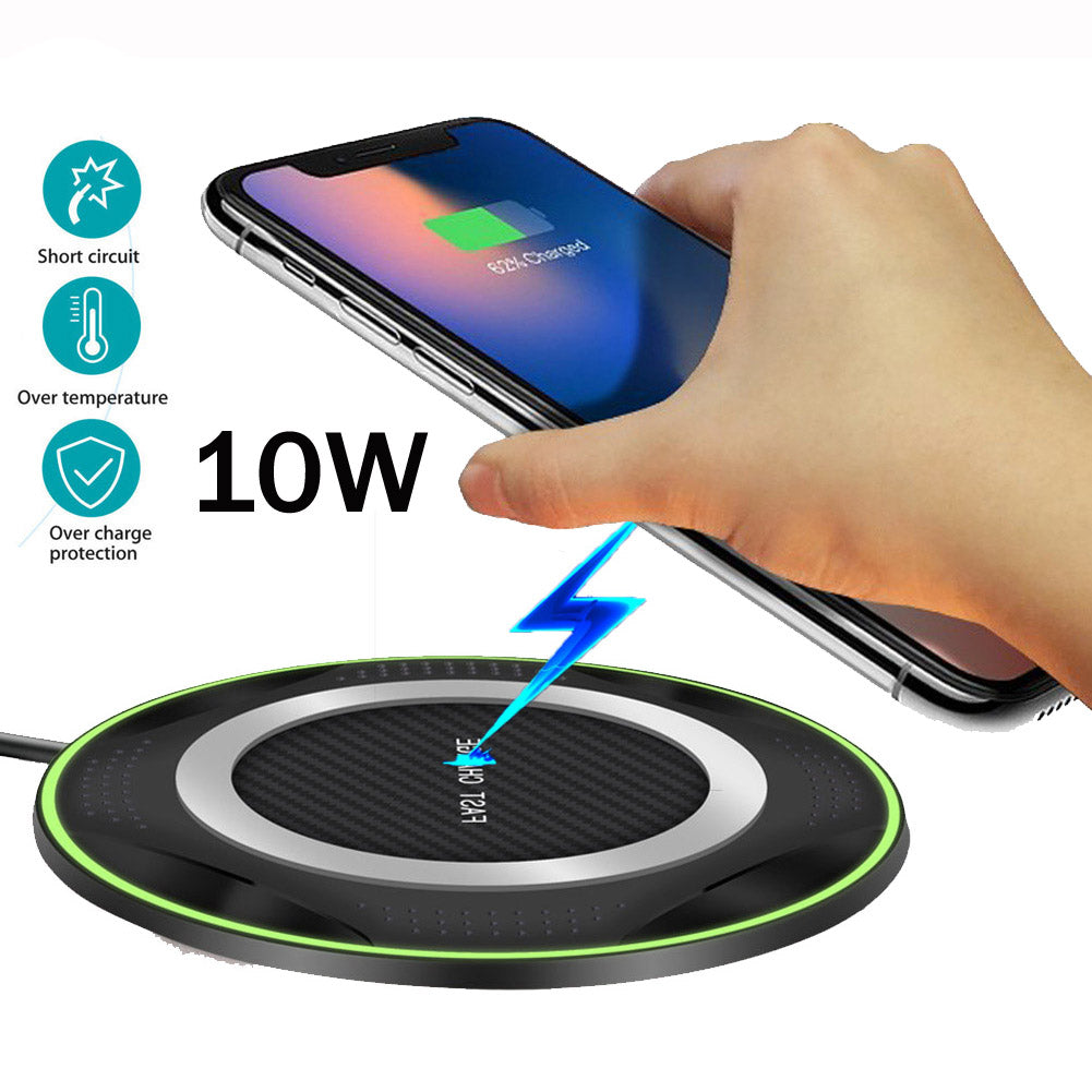 For Huawei P30 Pro Mate20 Pro Samsung S10 e/S9/S7/S8 iPhone XS Max/X Xiaomi Mix 2S/3 10W Qi Wireless Charger Fast Charging Pad - Premiersolartech
