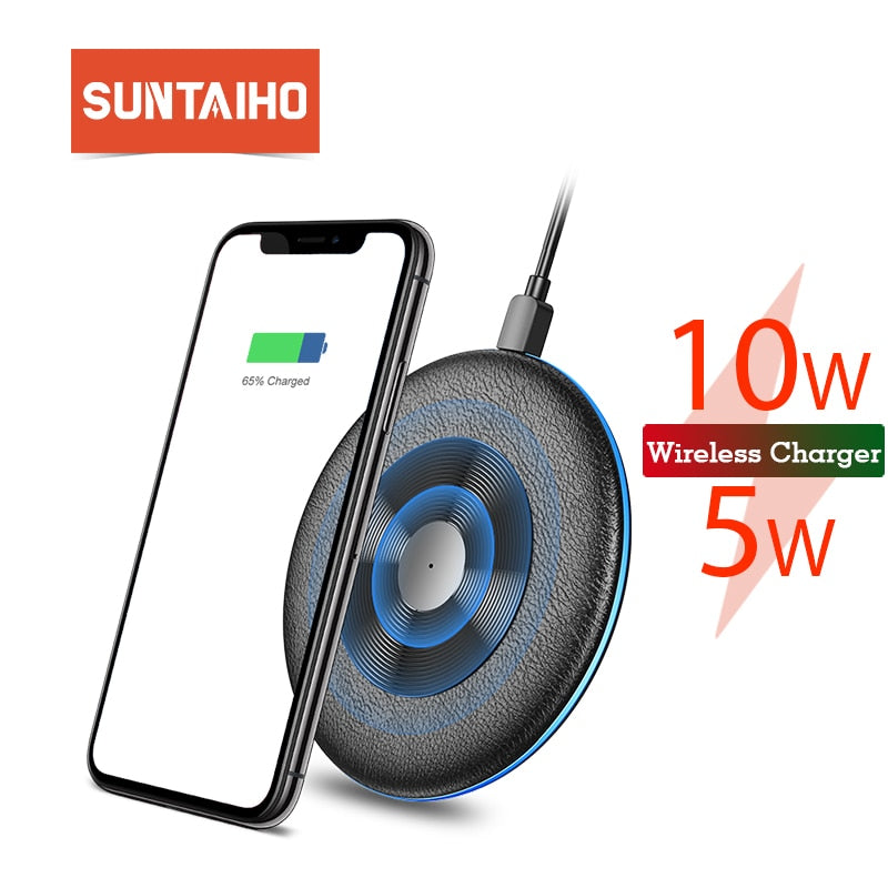 Qi Wireless Charger 5W/10W Suntaiho phone charger wireless Fast Charging Dock Cradle Charger for iphone samsung xiaomi huawei P3 - Premiersolartech