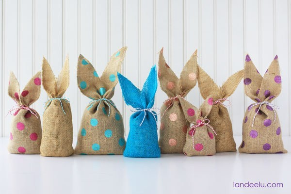 Make your own Easter bunny ear bags