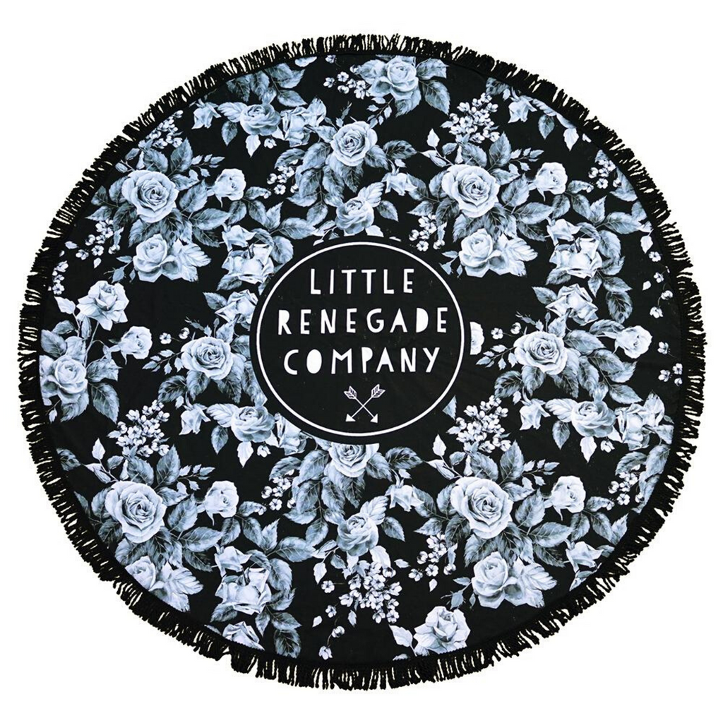 LITTLE RENEGADE COMPANY - Midnight Blossom Round Towel