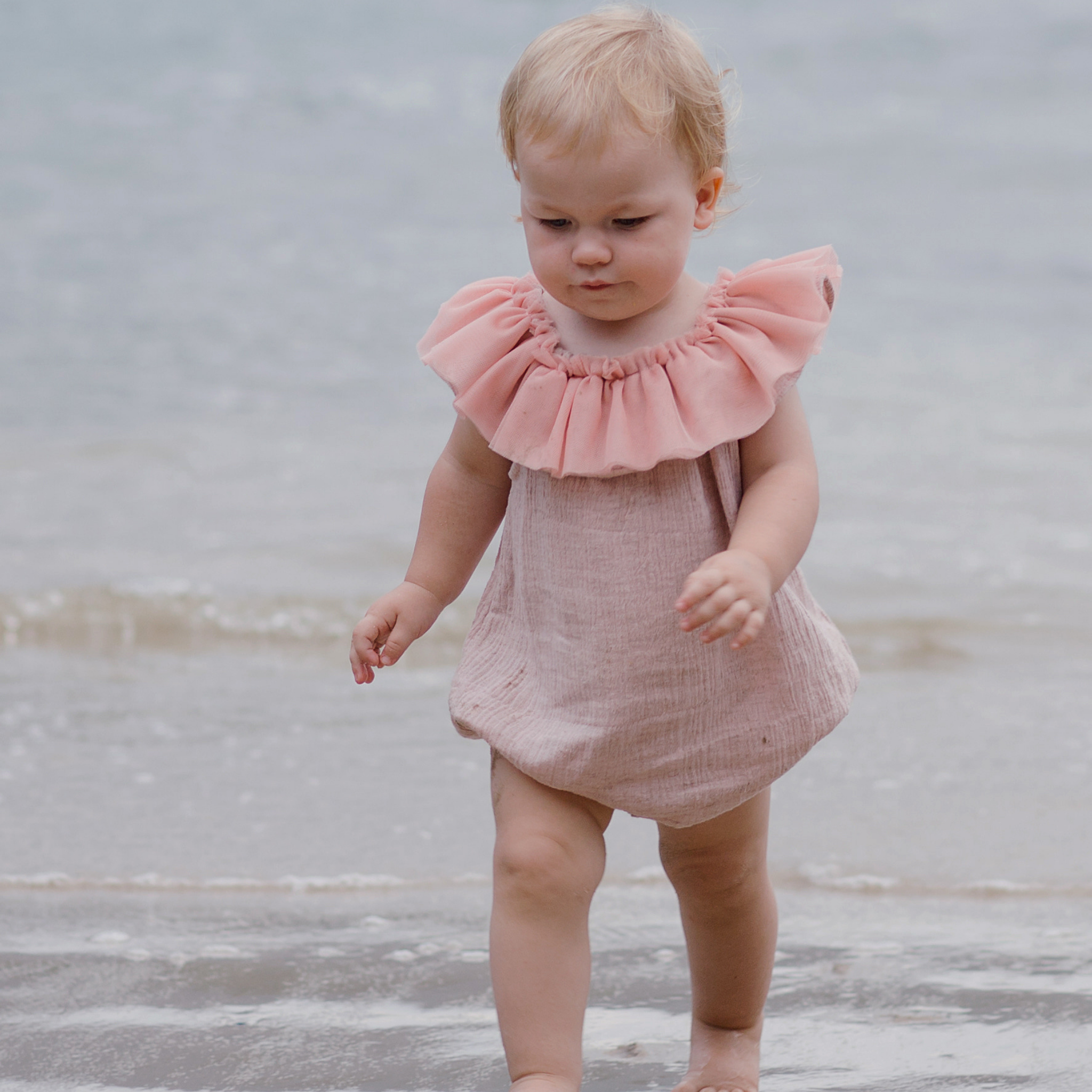 DUKES + DUCHESSES APPAREL - Musk Pink Playsuit