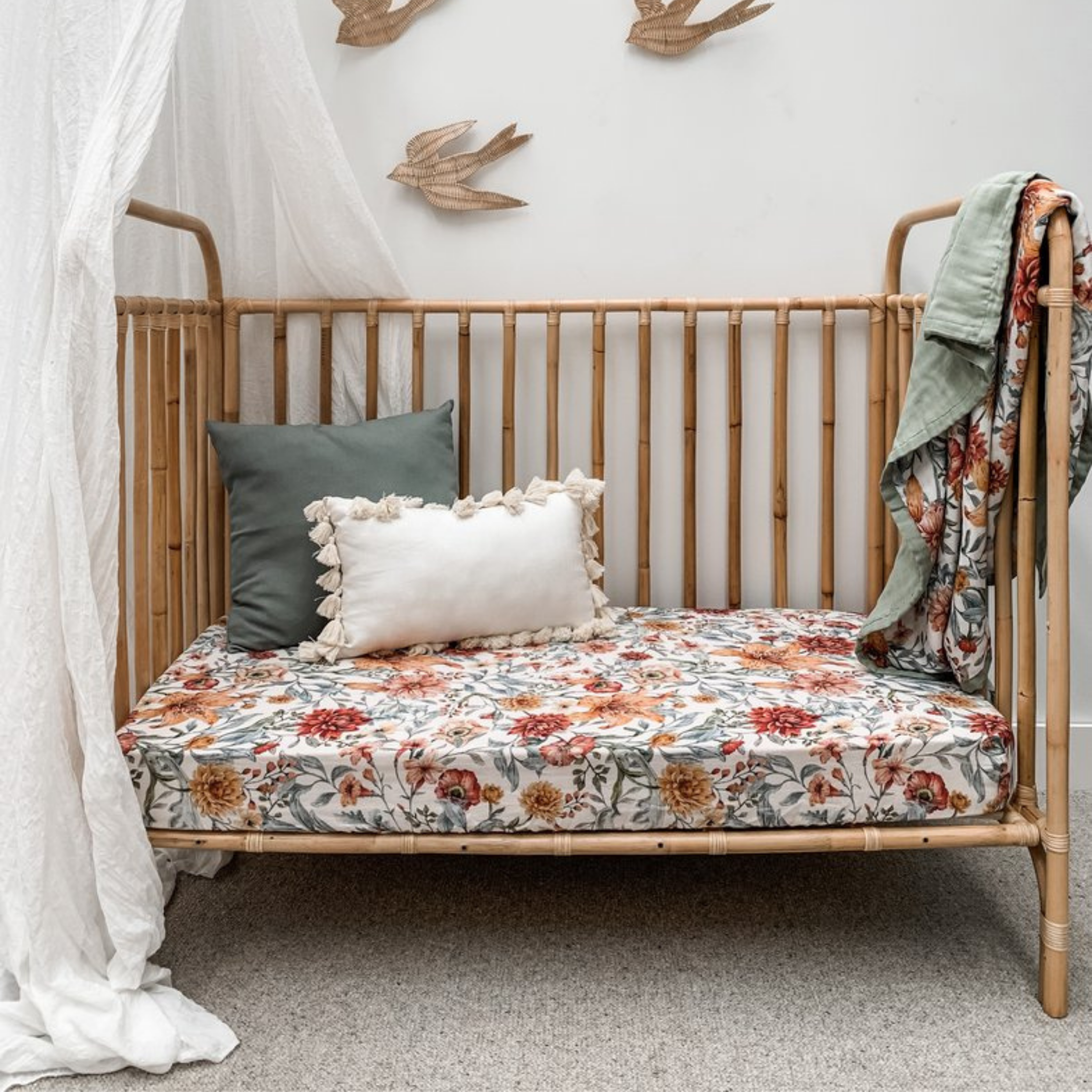 POP YA TOT  - Muslin Cot Sheet | Le Piccadilly