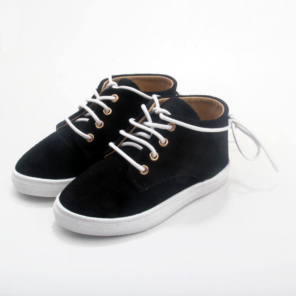 WILD CHASE - Black | Gelato Suede Leather Sneaker
