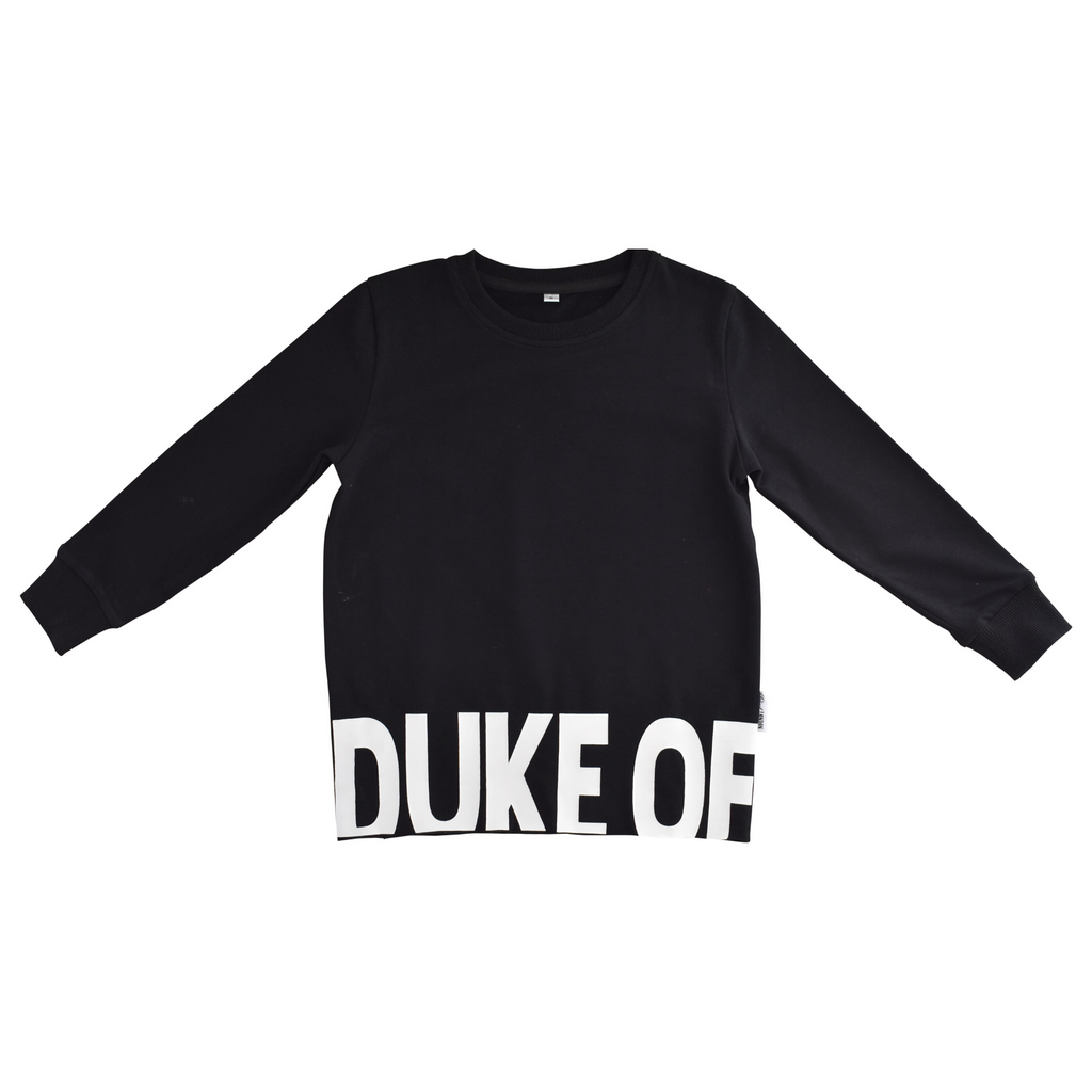 DUKE OF LONDON - Crew Top | Black Base Line